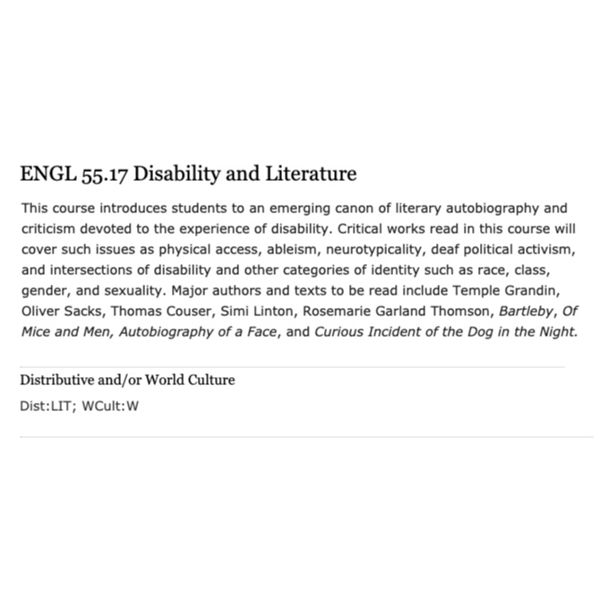 ENGL 55.17: Disability and Literature