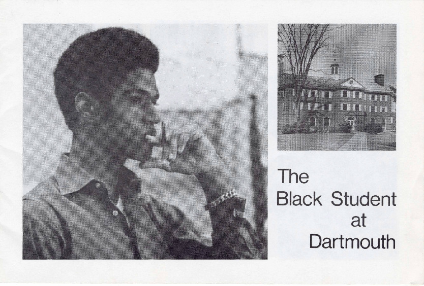 Compiled by Dartmouth undergraduates Albert Knight, A.J. Lonian, Bill Oldham, and George Riley, this informational pamphlet was used to recruit more Black students to Dartmouth College. In the publication, Black students are depicted in both academic and extracurricular settings and give testimonies about their college experiences.