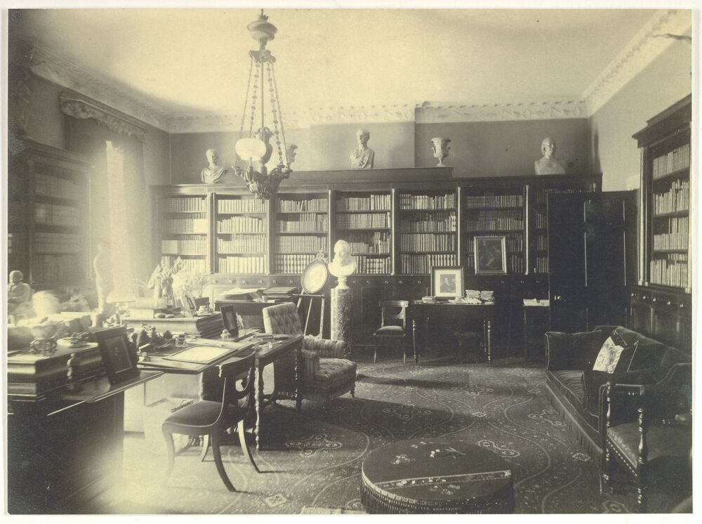 George and Anna Ticknor entertained America's literati in their home on Boston's Park Street across from the Boston Commons. Their library provided the perfect setting for literary salons.