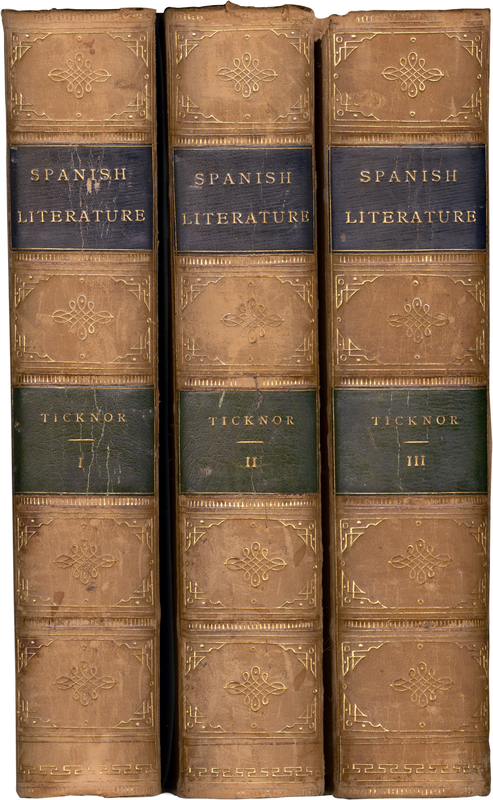 """Ticknor's monumental work was an important text in the field of Hispanic Studies for fifty years after its publication.  A book of its time, it linked Spanish literature to notions of national character.  The text expresses, in the words of scholar Thomas R. Hart Jr., """"the Federalist and Unitarian standards of the Boston society in which [Ticknor] played a leading role."""""""