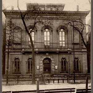 Boston Public Library, Boylston Street. Photograph. 1858.
